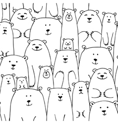 White bears family seamless pattern for your vector