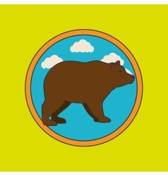 wild bear design vector image