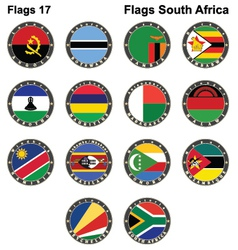 World flags south africa vector