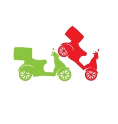 Scooter silhouette - Fast Delivery Service Symbol vector image