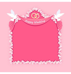 Wedding frame vector