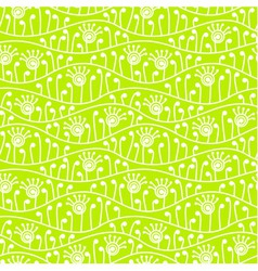 Green abstract floral seamless background vector