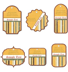 Set of vintage labels isolated on white background vector