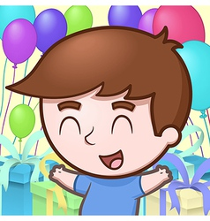 Kid celebrating birthday vector image