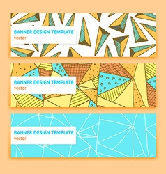 Sketch triangle banner vector