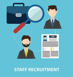 Employee staff recruitment vector