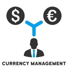 Currency management icon with caption vector