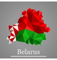 Geometric map of Belarus vector image