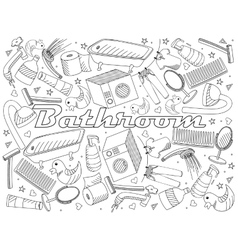 Bathroom coloring book vector