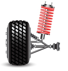Front car suspension vector image