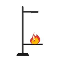 Laboratory burner isolated icon design vector
