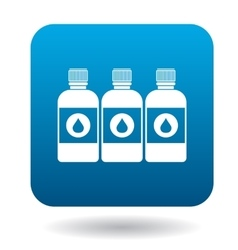 Printer ink bottles icon cartoon style vector