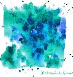 Abstract light blue watercolor background vector image vector image