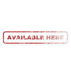 Available here rubber stamp vector