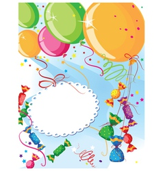 balloons and candy vector image vector image