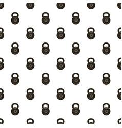Black kettlebell pattern vector