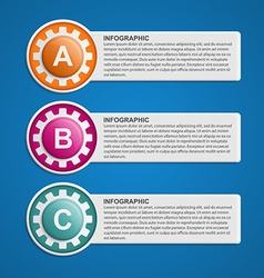 Color Gears Infographics Options Banner vector image vector image