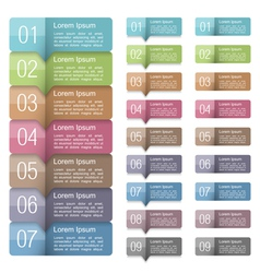 Design Elements with Numbers vector image vector image