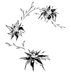 Floral tattoo design vector