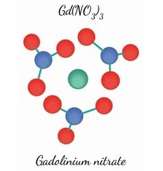 Gadolinium nitrate GdN3O9 molecule vector image vector image