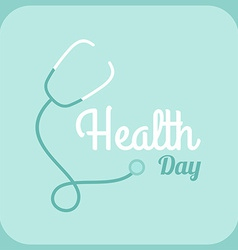 Health day celebrating card or poster design vector