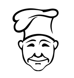 Joyful chef in a high hat vector image