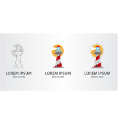 logo lighthouse vector image