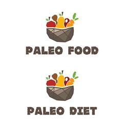 Menu paleo diet vector