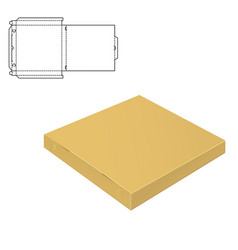 Mock up clear box vector