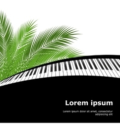 palm branch and piano template vector image vector image