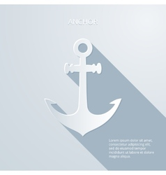 Paper anchor icon vector image vector image