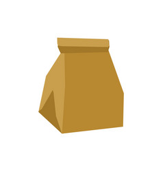 paper bag crushed garbage isolated package vector image