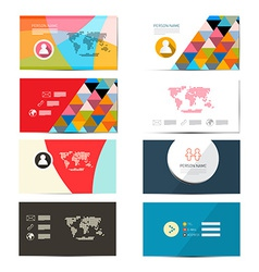 Paper Business Card Template - Layout Set vector image