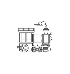 park train locomotive icon linear design vector image