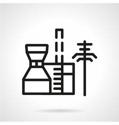 Petrochemical plant black line icon vector