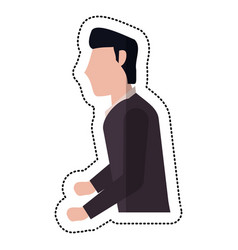 profile groom man wedding vector image