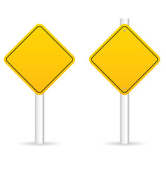 Road traffic sign in yellow empty set vector