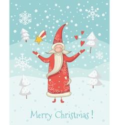 Santa Claus greeting card vector image