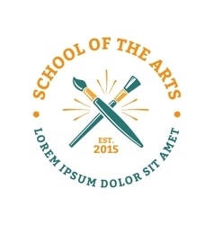 School of the arts vector