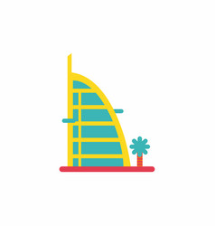 Stylish building hotel vector