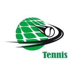 Tennis ball speeding across a net vector