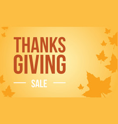 Thanksgiving background autumn flat vector