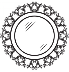 Vintage round ornamented frame vector