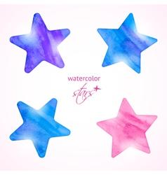 Watercolor stars set vector image vector image