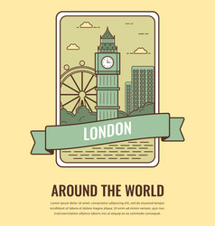 world landmarks united kingdom travel and vector image vector image