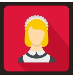 Maid icon flat style vector
