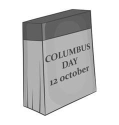 Columbus day of twelfth october icon vector