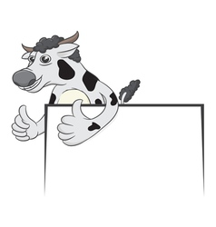 Cow and board vector