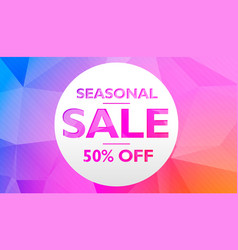 Seasonal sale offer and discount banner poster vector