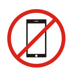 No phone sign no talking by phone sign red vector